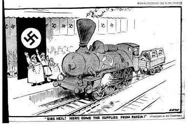 El abastecimiento soviético a la Alemania Nazi