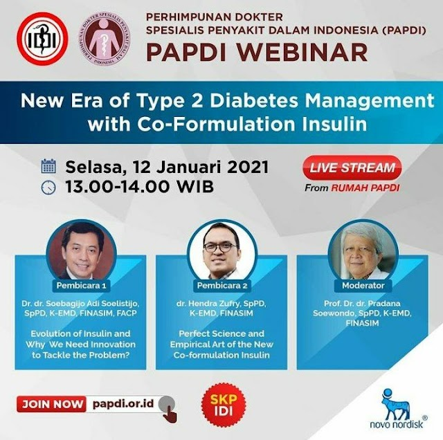 """Webinar PAPDI  """"New Era of Type 2 Diabetes Management with Co-Formulation Insulin"""""""