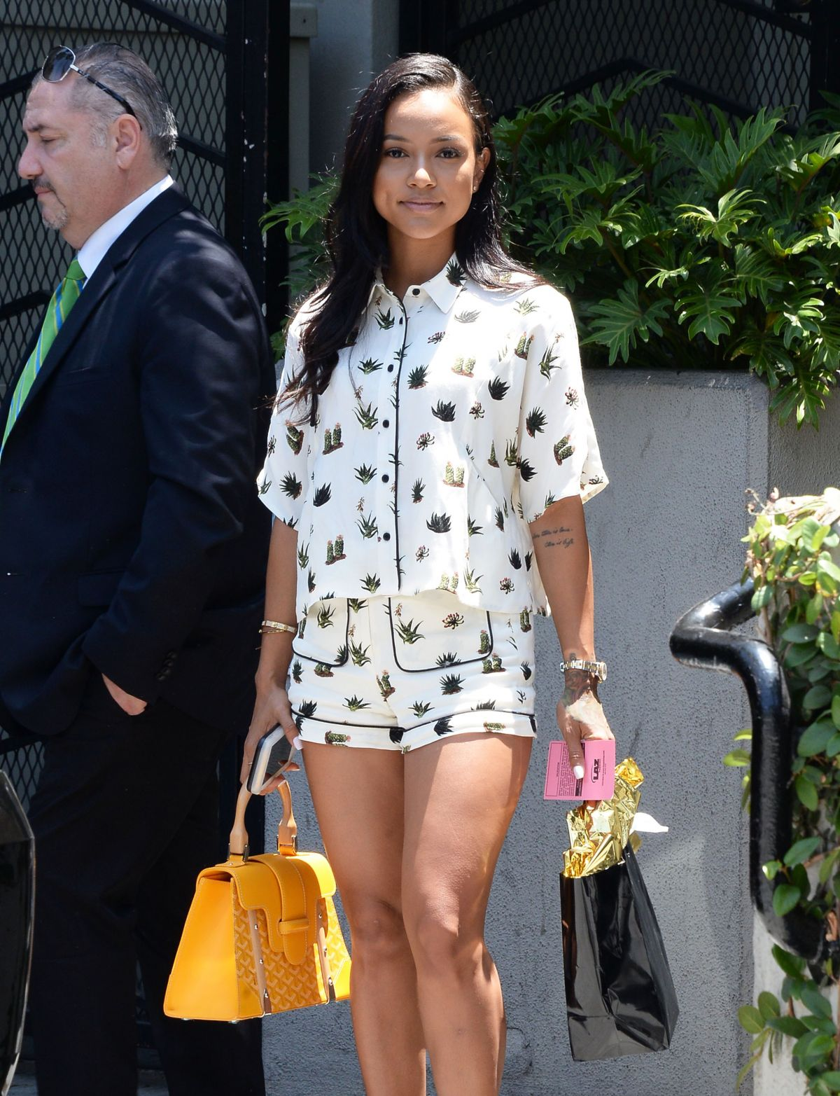 Karrueche Tran Leaves Sunset Tower Hotel In Los Angeles