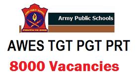 Army Public School Recruitment 2019, Apply Online for 8000 Teachers Vacancies @ aps-csb.in