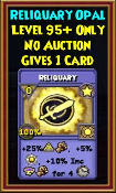 Reliquary - Wizard101 Card-Giving Jewel Guide