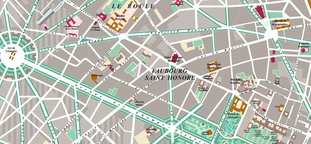 Le faubourg St Honoré autour de 1900