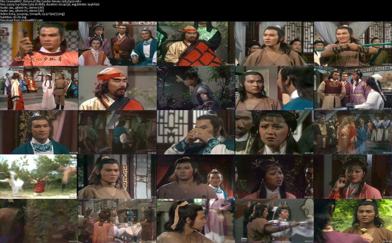 Return of the Condor Heroes (1983) Eps 20 - CinemaMKV (Official