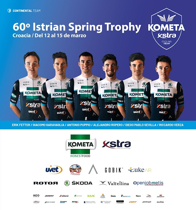 El Kometa - Xstra Cycling Team disputará la Istrian Spring Trophy