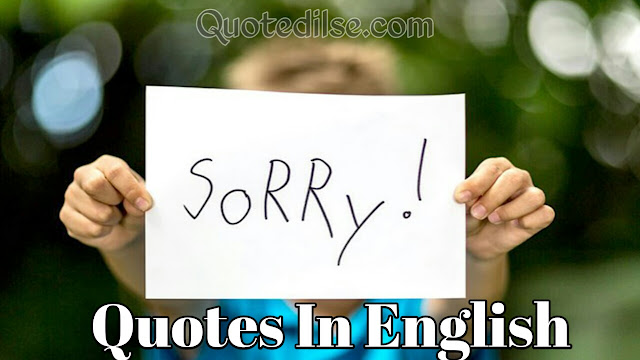 Sorry Quotes In English