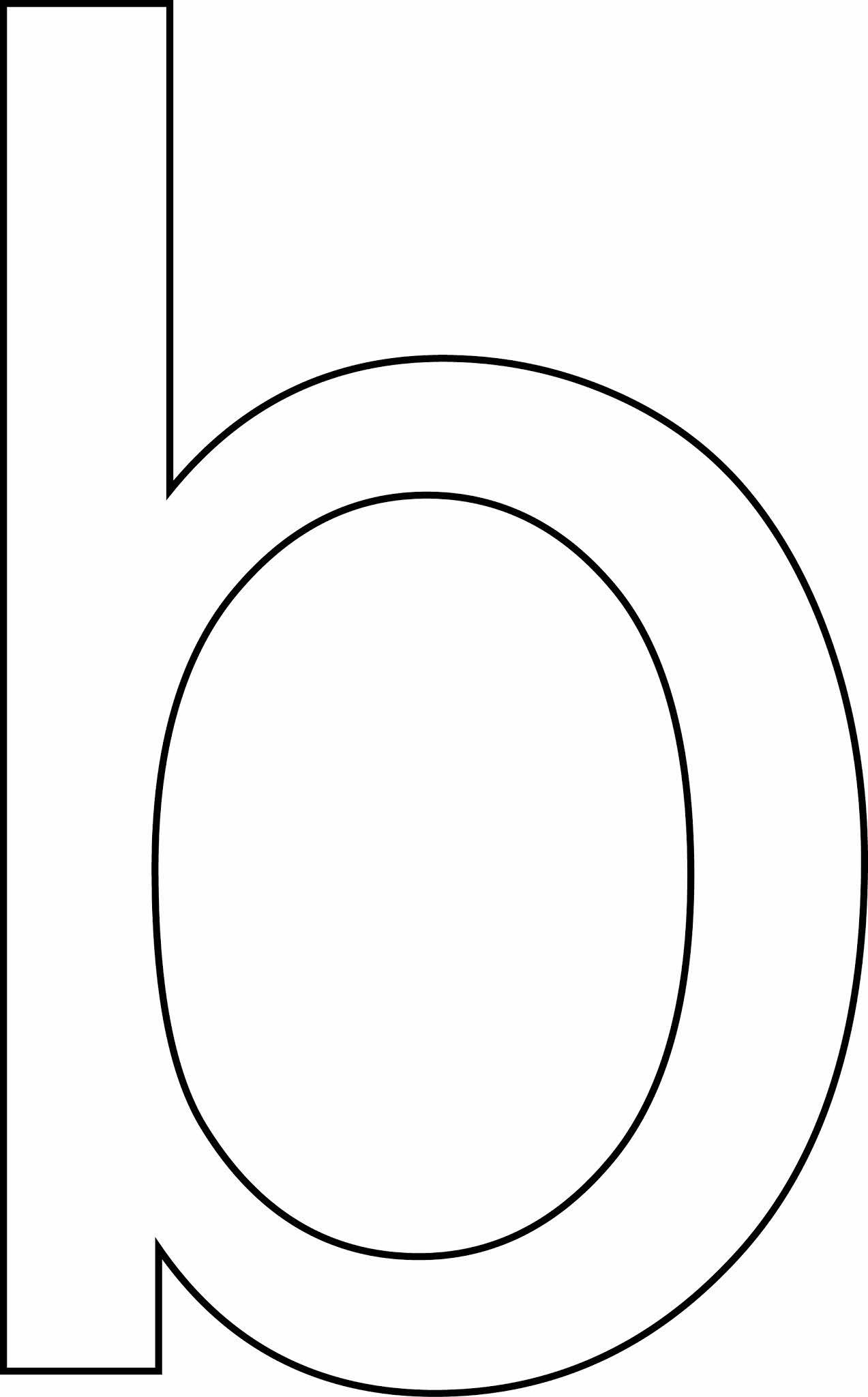 Letra b - minúscula para imprimir