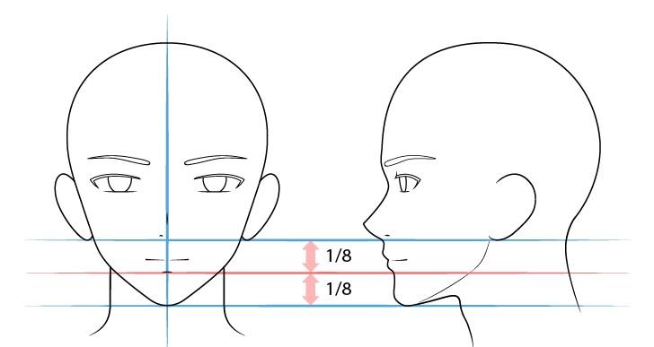 Langkah 5 - Menggambar Mulut