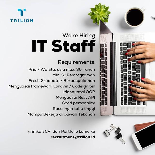 Lowongan Kerja IT Staff