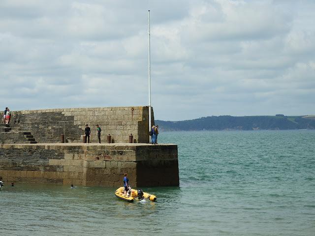 Polkerris harbour wall