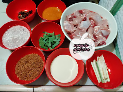 Bahan-bahan Resipi Rendang Ayam Simple dan Sedap
