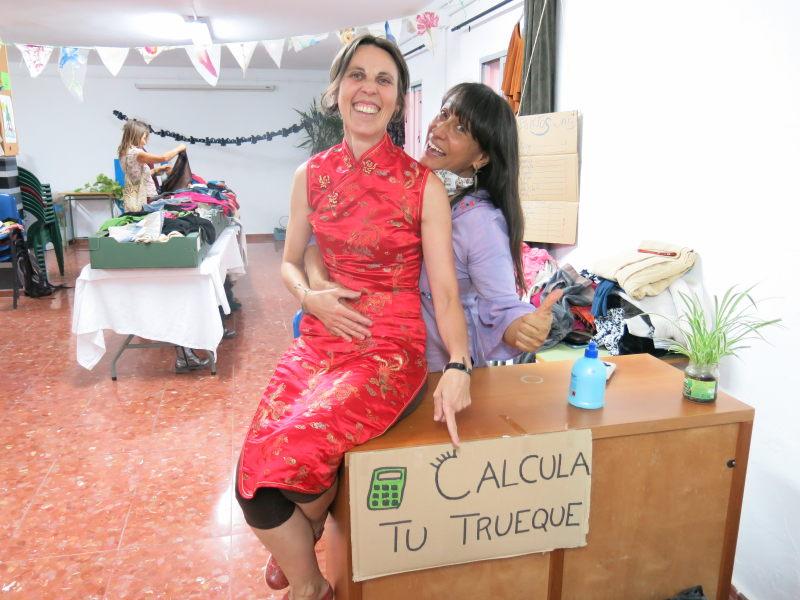 Organizadoras Evento Intercambio ropa GFS Benarrabá AEA BA