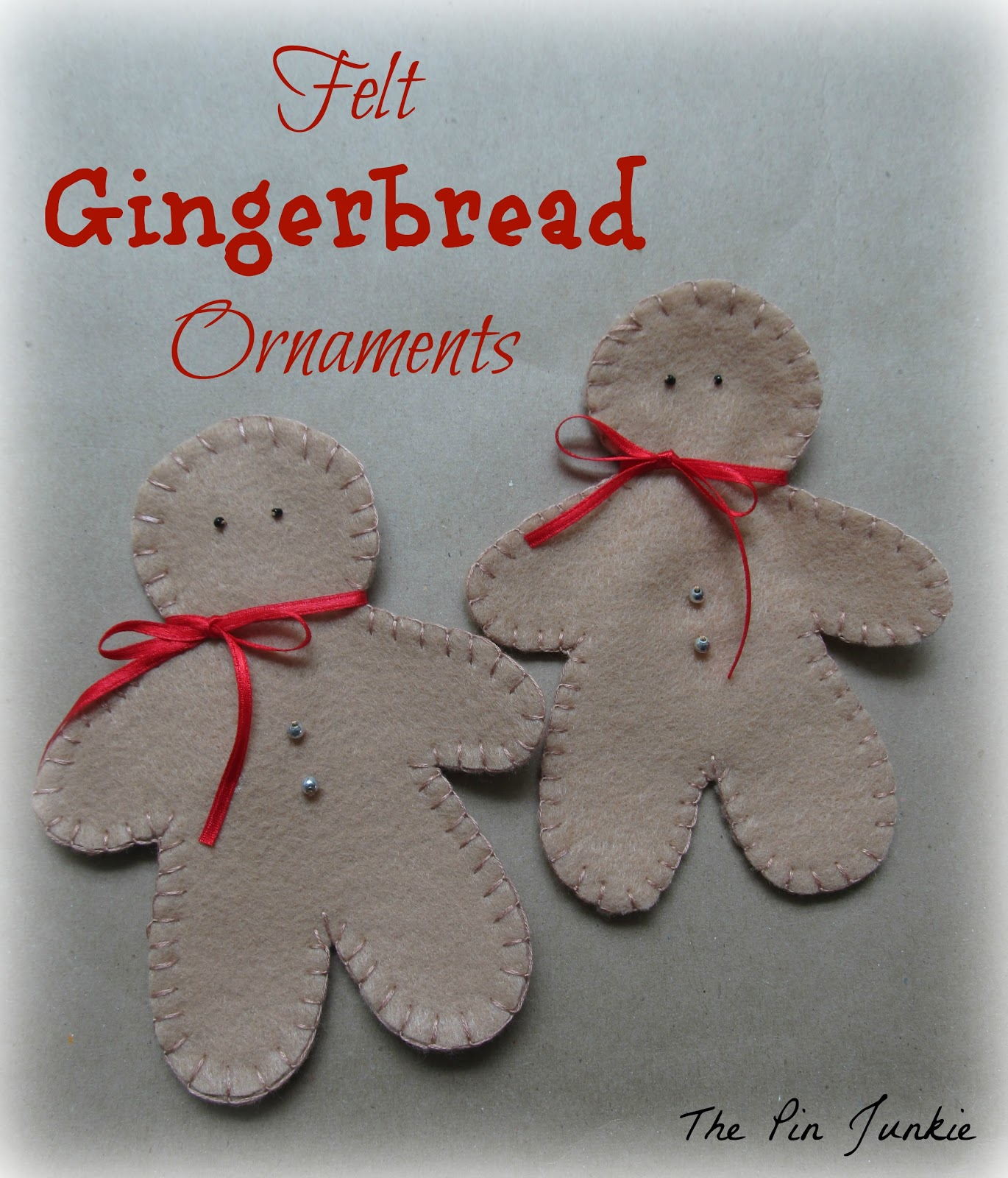felt-christmas-ornaments gingerbread men