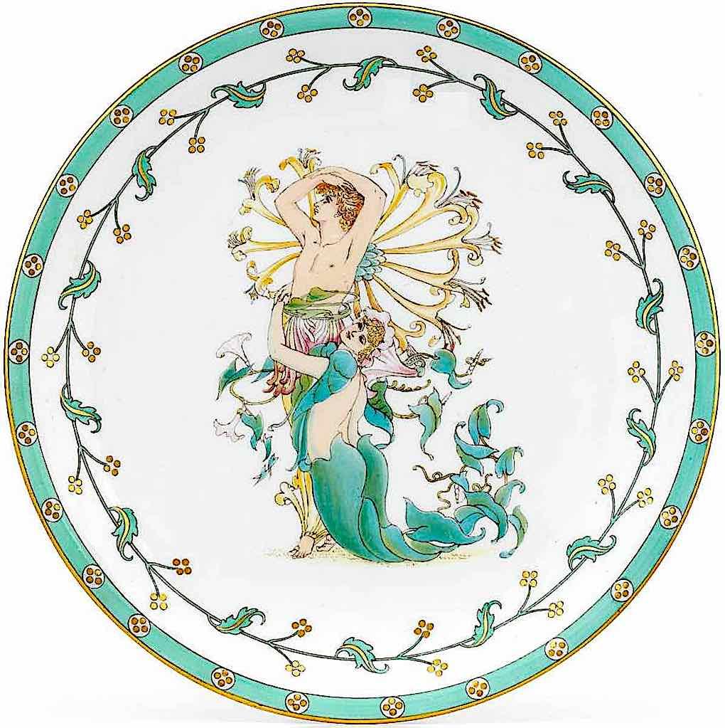 a Walter Crane ceramic ornamental plate, 1920