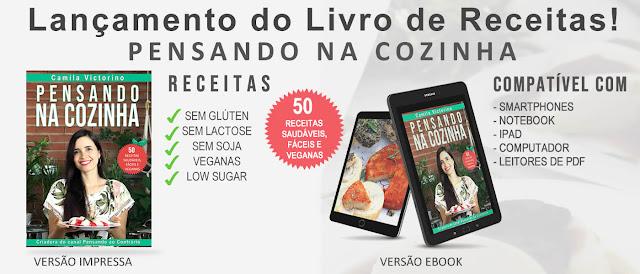 Livro de receitas Pensando na cozinha por Camila Victorino