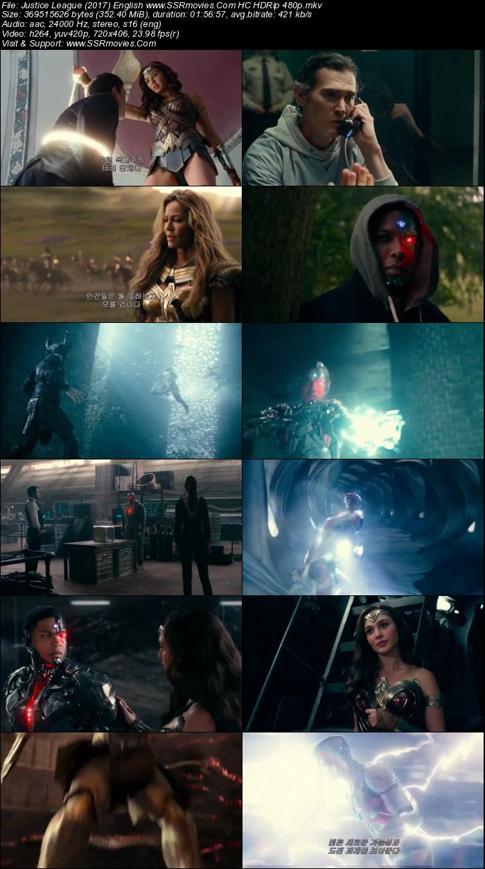 Justice League 2017 Dual Audio [Hindi (Cleaned) + English] HC HDRip 480p 400MB 720p 1GB