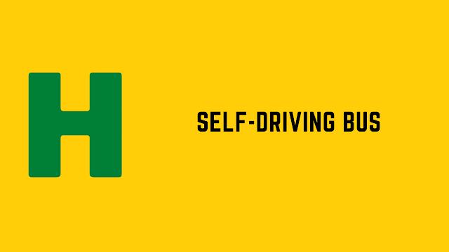 HackerRank Self-Driving Bus problem solution
