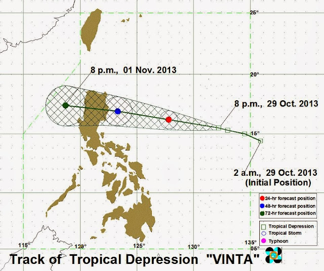 Signal No. 1 raised over Isabela, Aurora as 'Bagyong Vinta' moves westward