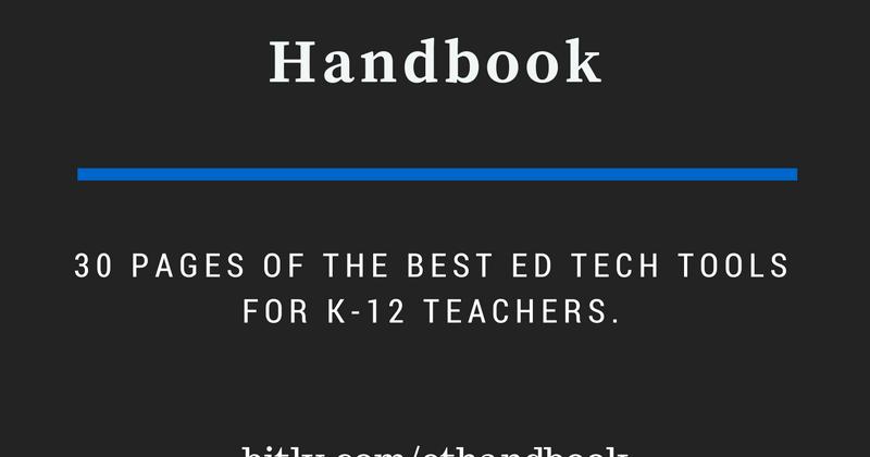 Practical Ed Tech Handbook - Updated for 2016-17