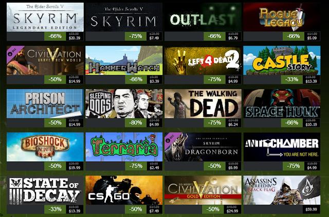 Steam nos trae sus ofertas de navidad con miles de juegos !