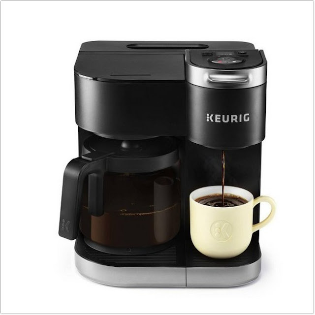 Coffee Maker With Carafe And Single Serve;Keurig K-Duo Single Serve and Carafe Coffee Maker with 12 K-Cups;