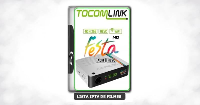 Tocomlink Festa HD Nova Atualização Satélite SKS keys 61w ON V1.78