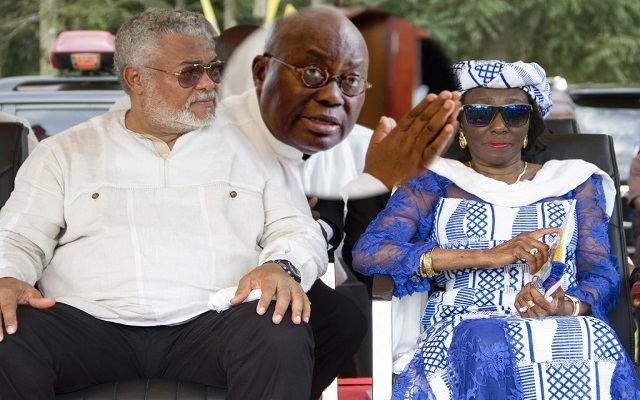 Ex-President Jerry John Rawlings, Nana Akufo-Addo and Ex-First Lady