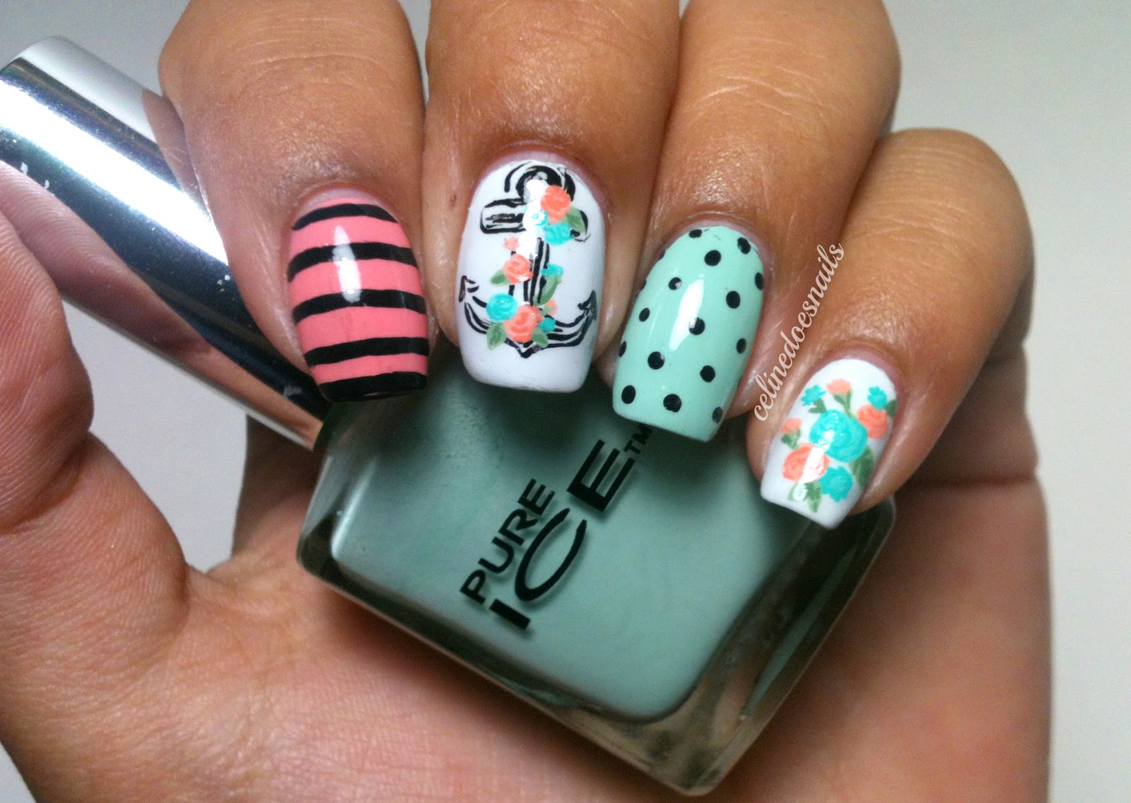 Nails By Celine: Anchor Nail Art Part II