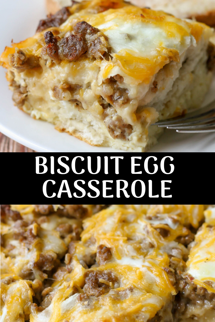 BISCUIT EGG CASSEROLE RECIPE FOR BREAKFAST