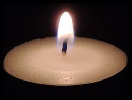 White Yizkor Candle