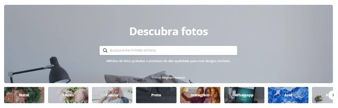 Encontre as melhores imagens para o seu design utilizando essa ferramenta disponibilizada pelo Canva.