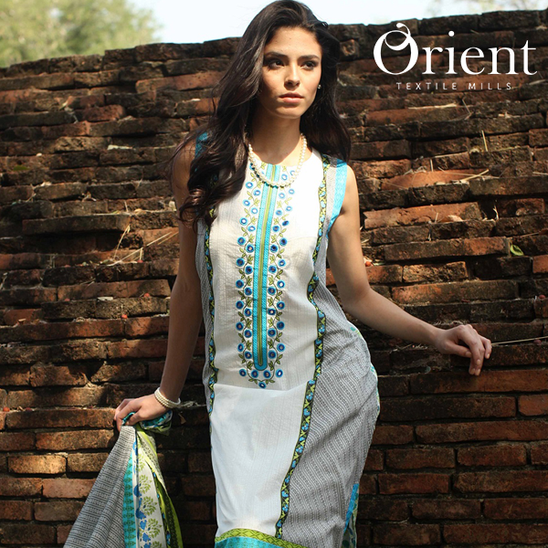 fbd973f5c24f Orient Textiles S S Two piece Lawn Collection 2015-16 For Women ...