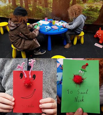 Chill Factore Christmas making cards for Santa