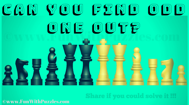 This is Fun Chess Puzzle in which your challenge is to find the Chess pieces which is Odd one Out.