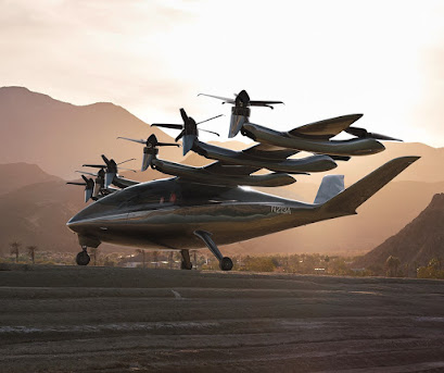 Rendering of Archer's electric vertical takeoff and landing (eVTOL) aircraft.