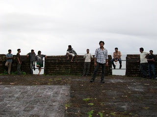 Rene Shankar and team at Bekal fort