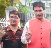 Pranab Kr Nath: Picture taken with Tripura CM