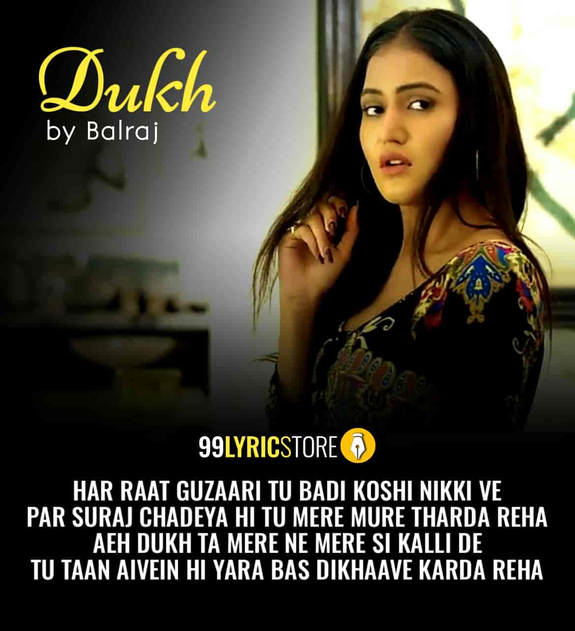 Dukh sad Punjabi Song Sung by Balraj