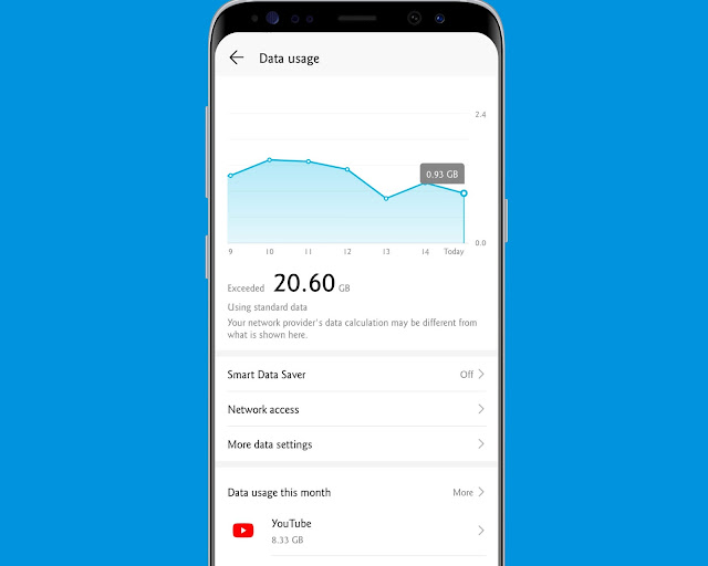 Monitor Data Usage - hidden android features