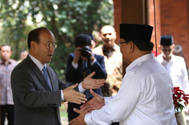 Duta Besar China Kunjungi Capres Prabowo Subianto di Hambalang