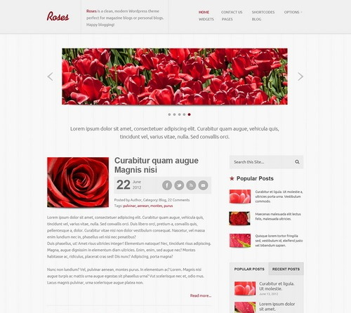 Roses website template