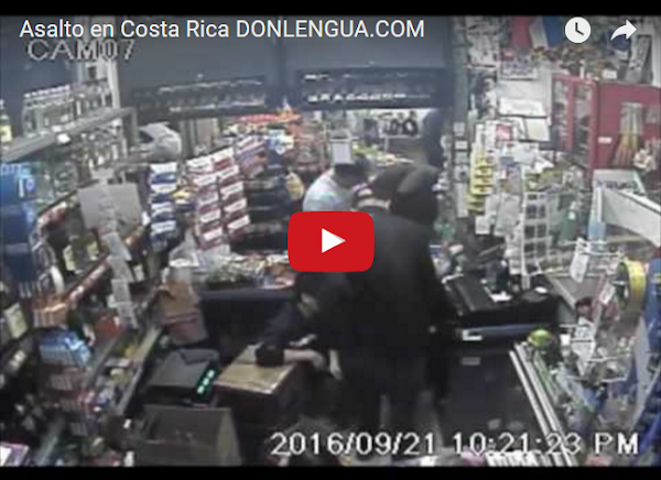 Venezolano implicado en un asalto a mano armada en Costa Rica