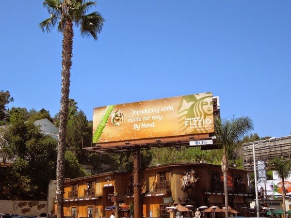 Starbucks Fizzio soda billboard