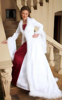White-cape-winter-wedding-dress