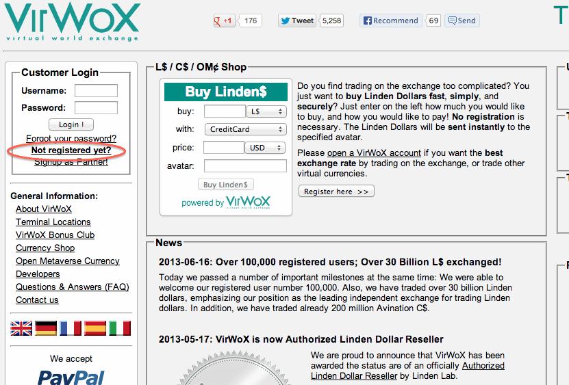 Cara Mendaftar Akun VirWox