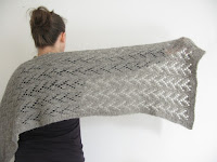 lace shawl wrap scarf knitting pattern felted
