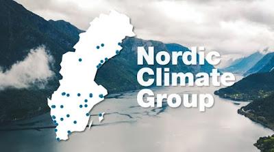 Montage med Sverigekarta med ingående företag utprickade.