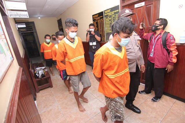 Tingkatkan KRYD, Empat Pelaku Penikmat Sabu Digulung Polsek Balikpapan Barat
