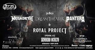 Tributo Pantera - Megadeth - Dream Theater en Bogotá