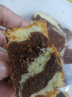 kek marble moist sukatan cawan