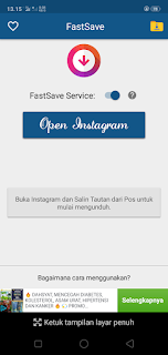 Cara Download postingan gambar video Instagram Di Android